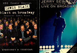 Jerry Seinfeld : I'm Telling You for the Last Time , Lewis Black : Black on Broadway - HBO Broadway Comedy Series 2 Pack