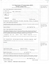 DOT Breath Alcohol Testing Forms 3-PLY (2) Packs of 100