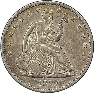 1877-S Liberty Seated Half Dollar, AU, Uncertified
