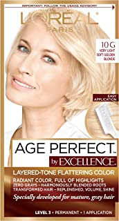 L'Oreal Paris ExcellenceAge Perfect Layered Tone Flattering Color, 10G Very Light Soft Golden Blonde (Packaging May Vary)