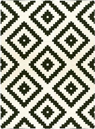 Decoweb Tapis Graphique   Noir Et Blanc (160 X 220 Cm)