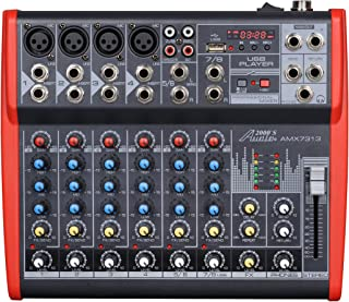 Audio2000'S AMX7313-Professional Eight-Channel Audio Mixer with USB and DSP Processor (AMX7313)