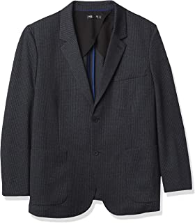 Perry Ellis Men's Motion Big & Tall Stretch Tech Jacket, Navy, 48 Regular