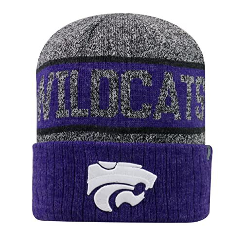 c021dce39a5 Top of the World Kansas State Wildcats Official NCAA Cuffed Knit Below Zero  II Beanie Hat
