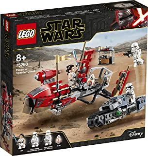 LEGO 75250 Star Wars Pasaana Speeder Chase Treadspeeder Tracked Vehicle Building Set, The Rise of Skywalker Collection, Mu...