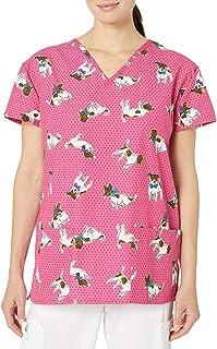 24|7 Comfort Scrubs V Neck Scrub Top Camisa quirúrgica para Mujer