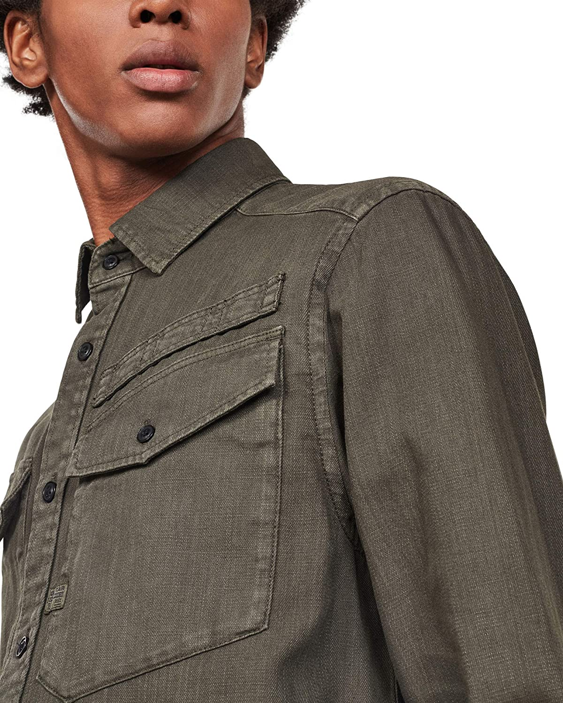 G-STAR RAW Army Straight Long Sleeve Camisa para Hombre