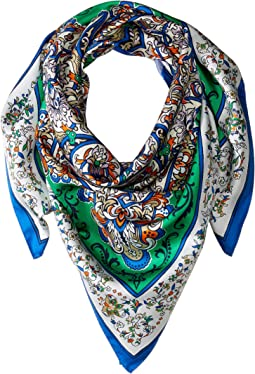 Grand Voyage Double-Faced Silk Square Scarf