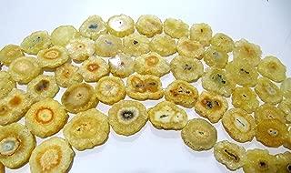 Mango Color Solar Quartz Druzy Stalactite Slice Beads, Agate, Natural Mossy Stone Druzy 20 to 30 mm Sizes, 10
