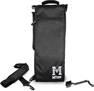 Mtuff Golf Cooler Bag Includes Golf Club Brush and Groove Cleaner - Soft Sided Insulated Cooler Bag Holds 6 Cans or Two Wine Bottles (Black)