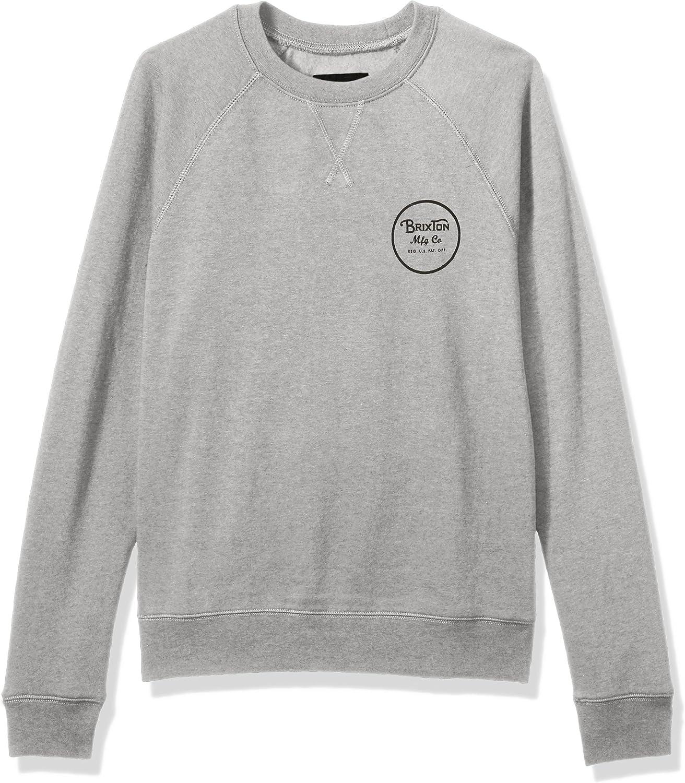 Brixton Men's Wheeler Standard Fit Crew Fleece Sweatshirt
