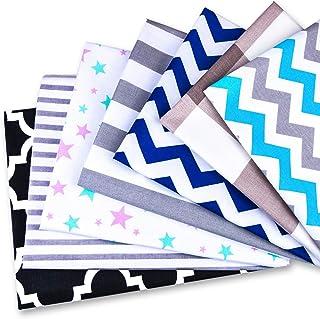 Tela algodon Telas Patchwork 7 piezas 50 x 80 cm - Retales Tela para coser, Telas decorativas Costura y Manualidades por metros Multicolor OEKO-TEX