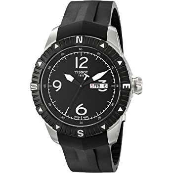 Tissot Men's 'T Navigator' Black Dial Black Rubber Strap DateDay Automatic Watch T062.430.17.057.00