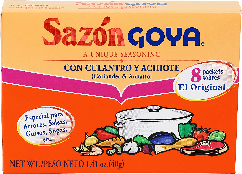 Goya Foods Sazón Seasoning with Coriander & Annatto, 1.41 Ounce