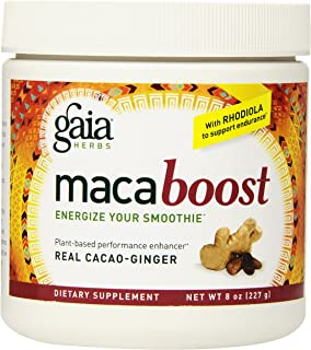 Gaia Herbs Maca Boost Supplement, Cacao Ginger, 8 Ounce - Energy & Stamina, Aids Recovery, Vegan, Gluten Free