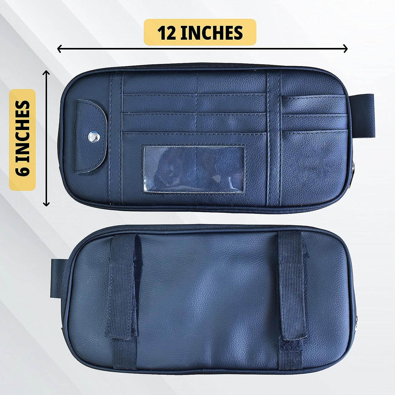 EcoNour Car Visor Organizer   Interior Car Accessories   Sunglasses Holder for Car   Tactical Truck Visor Organizer   Car Visor Organizer with Velcro Straps   Travel Accessories   Roadtrip Essential