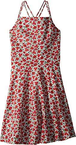 Floral Linen-Cotton Dress (Big Kids)