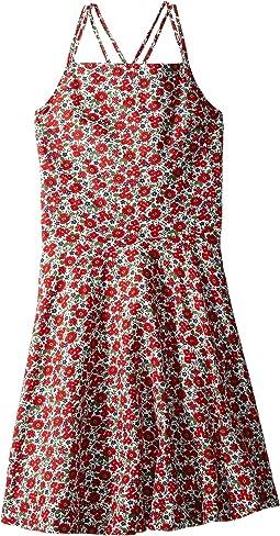 Floral Linen-Cotton Dress (Big Kids)