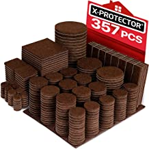 X-PROTECTOR 357 pcs Premium HUGE PACK Felt Furniture Pads! HUGE QUANTITY of Felt Pads For Furniture Feet with MANY BIG SIZES – Your IDEAL Wood Floor Protectors. Protect Your Hardwood & Laminate Floor!