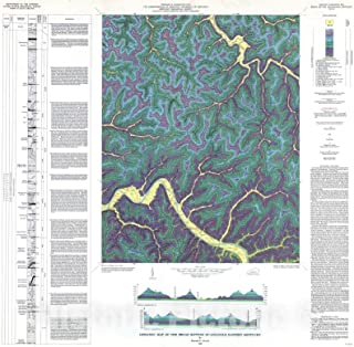 Historic Pictoric Map : Geologic map of The Broad Bottom Quadrangle, Eastern Kentucky, 1965 Cartography Wall Art : 16in x 16in