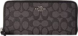 Boxed Slim Accordion Zip Wallet In Signature Jacquard