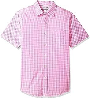 Men's Slim-Fit Short-Sleeve Casual Poplin Shirt