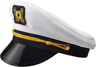 Yacht Captain Hat, Boat Sailor Ship Skipper Cap Adult Costume Accessory