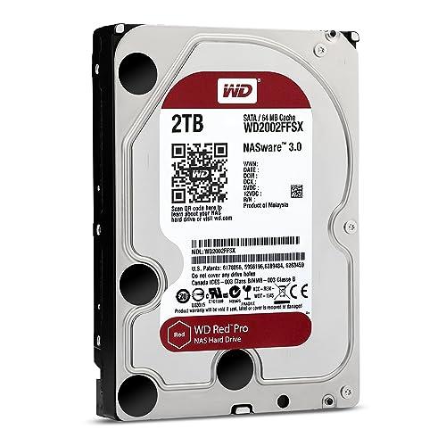 "WD Red Pro 3.5"" Disque dur interne pour NAS 8 à 16 baies 2 To 7200 RPM 64 Mo SATA 6Gb/s (WD2002FFSX - bulk)"