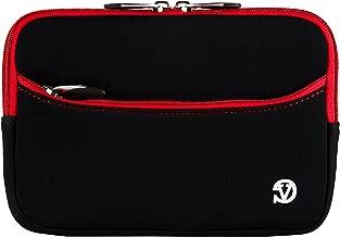 VanGoddy 7-inch Black Red Trim Shock Absorbing Neoprene Tablet Sleeve Case for RCA 7 Voyager II, 7 Mercury, 7 Mercury Pro, Voyager III