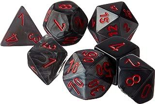 Chessex CHX27478 Dice-Velvet Set, Black/Red