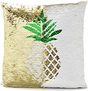 Neasyth Reversible Sequin Pillow Cover Decorative for Home Wedding Party Decor,Mermaid Pillow Case for Couch Bed Sofa Birthday Festival Gift for Kids Adults Girls 16