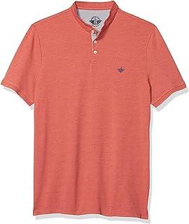 Men's Short Sleeve Mock Neck Polo