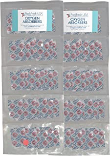 50cc Oxygen Absorber Compartment Packs (100, in 10 Compartments) with PackFreshUSA LTFS Guide