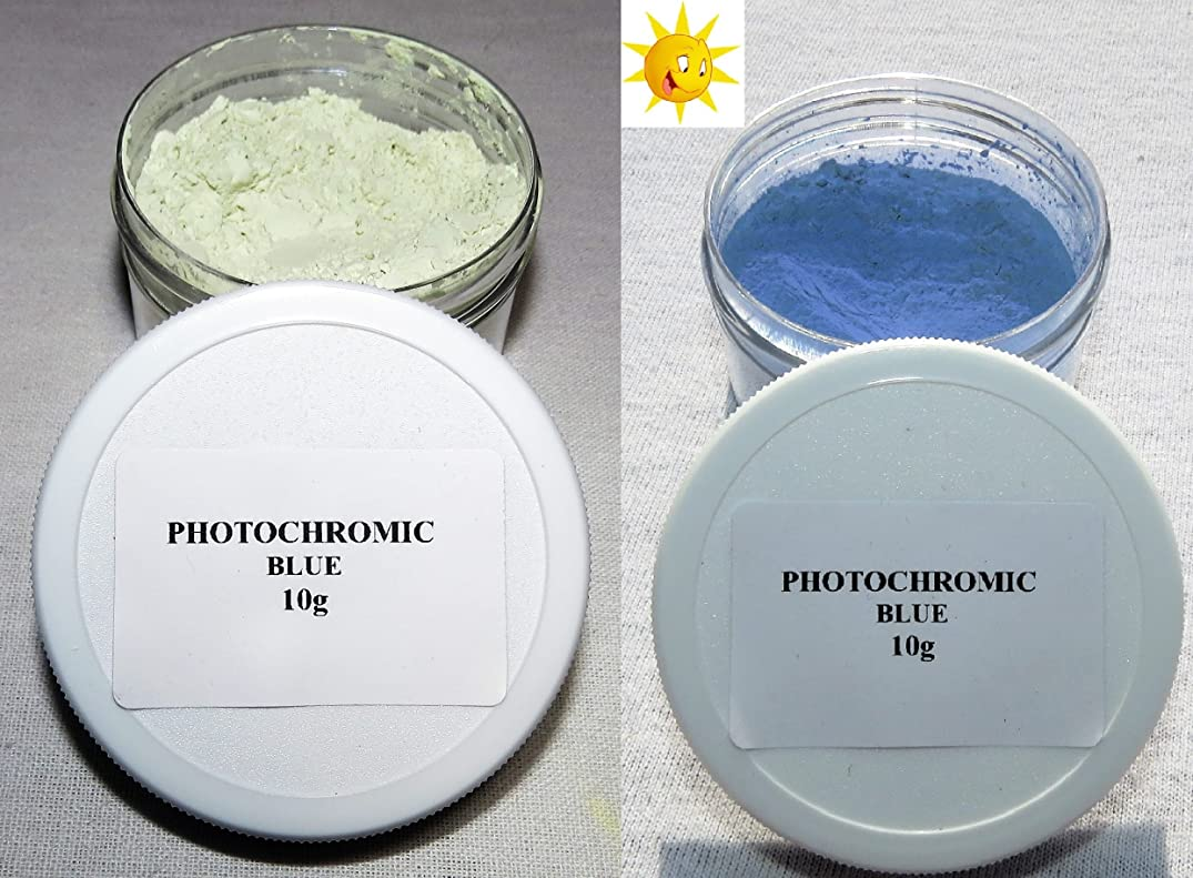 PhotoChromic Pigment That Changes Colors When Exposed to Sunlight or UV Light, and reverts to its Original Color When Sunlight is Blocked. (5g, Blue)