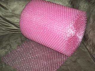 50 Foot Pink Bubble Cushioning Wrap Roll, 3/16