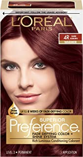 L'Oréal Paris Superior preference Fade-Defying + Shine دائمی مو ، شفافیت 4R تیره ، 1 کیت رنگ مو