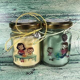 Regalo assistente scolastico, logopedista, educatrice 2 candele di cera in soia e oli essenziali Fine anno scolastico Rito...