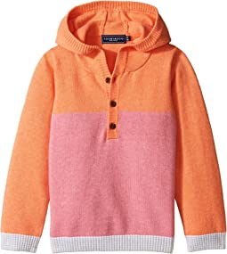Pink Henley Hoodie (Infant/Toddler)