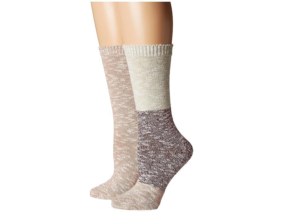 Steve Madden 2-Pack Boot Socks (Black/Lime Trim) Women's Crew Cut Socks Shoes, Multi