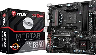 MSI B350M Mortar - Placa Base Arsenal (AMD AM4 B350 M-ATX, DDR4 Boost, Gaming LAN, Audio Boost, VR Ready, Gaming Leds, Military Class V)