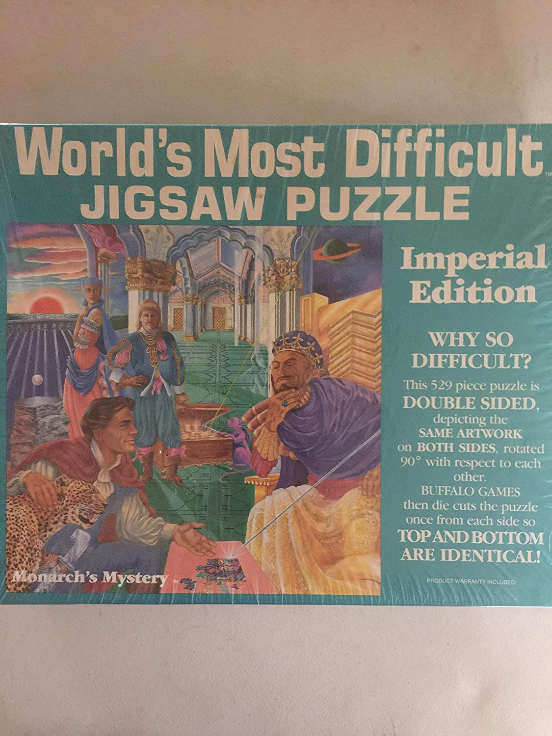World's Most Difficult Jigsaw Puzzle  Monarch's Mystery  529 Piece Puzzle