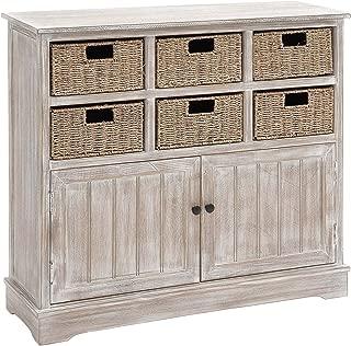 Deco 79 Wood 6 Basket Dresser, 38