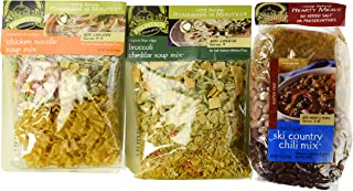 Frontier Soups 100% Natural Homemade In Minutes Gluten-Free Soup Mix 3 Flavor Variety Bundle: (1) Michigan Ski Country Chi...