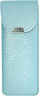 Vinyl Eyeglass Case Top Closure Pearly Shades Of Blue Brass Green Lilac Pink