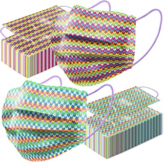 Kids' 60PCS Disposable Fashion Face Masks Individually Sealed 3-Ply Covering Seamless Knitted Wool Sweater Chevron Pattern