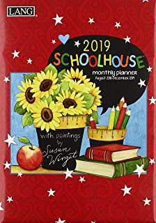 Schoolhouse 17 Month 2019 Monthly Planner