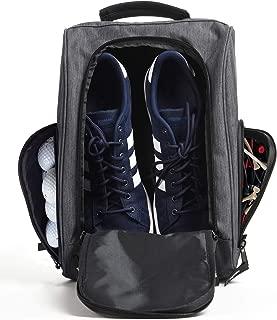 Golf Shoe Bag - Zippered Shoe Carrier Bags with Ventilation & Outside Pocket for Socks, Tees, etc.