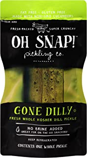 Oh Snap Fresh Whole Kosher Dill Pickle, (Pack of 12)