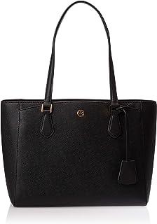 توري بورش حقيبة جلد صناعي للنساء-اسود - حقائب كبيرة توتس