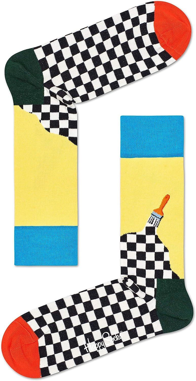 Happy Socks Unisex Paint Colorful Printed Sock
